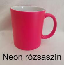 Neon rózsaszín kerámia bögre