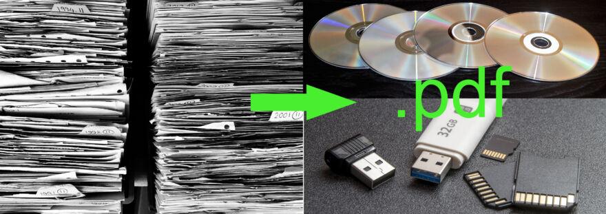 papírkupacból lesz digitális formátum, cd, dvd, pendrive